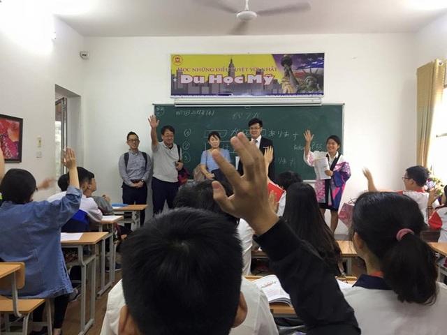 Học sinh trường THPT Hoàng Long (Hà Nội Tokyo) giao lưu với lãnh đạo trường Fuji Language