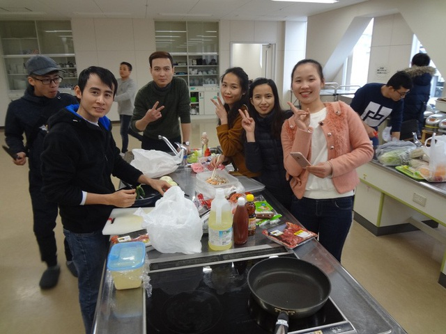 Cuộc sống sinh hoạt của du học sinh trường THPT Hoàng Long tại trường Fuji Language
