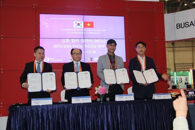 Trong khuôn khổ các hoạt động tại Busan Contents Market 2018, VTVcab đã ký Thoả thuận sản xuất chương trình chất lượng cao của Hàn Quốc cho thị trường Việt Nam.