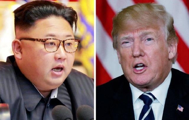 Tổng thống Mỹ Donald Trump (phải) và lãnh đạo Triều Tiên Kim Jong-un (Ảnh: Getty)