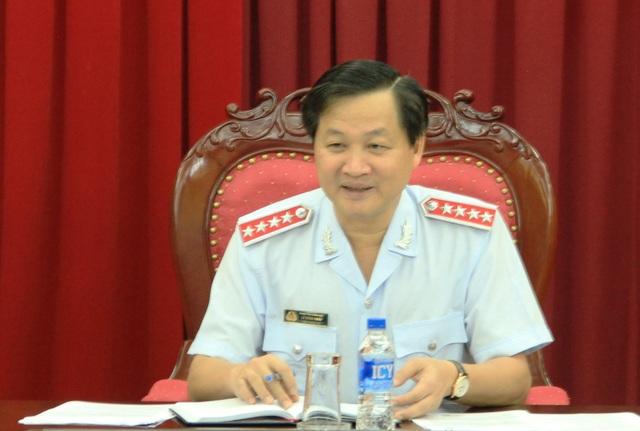 Tổng Thanh tra Chính phủ Lê Minh Khái chủ trì cuộc họp với Cục Chống tham nhũng ngày 18/5 (Ảnh: TTCP).
