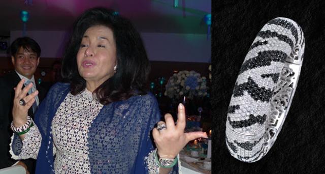 Bà Rosmah sở hữu nhiều trang sức đắt tiền, trong đó đáng nói nhất là chiếc vòng cổ kim cương có giá hơn 27 triệu USD. (Ảnh minh họa: Insider)