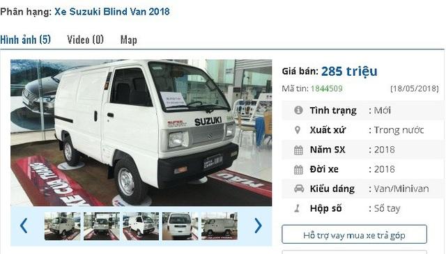 Suzuki Blind Van 2018 có giá niêm yết 285 triệu đồng tại Việt Nam.