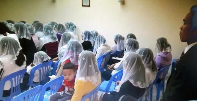 """Hình ảnh một buổi làm lễ của """"Hội thánh Đức Chúa Trời"""" (ảnh: nguồn Internet)"""