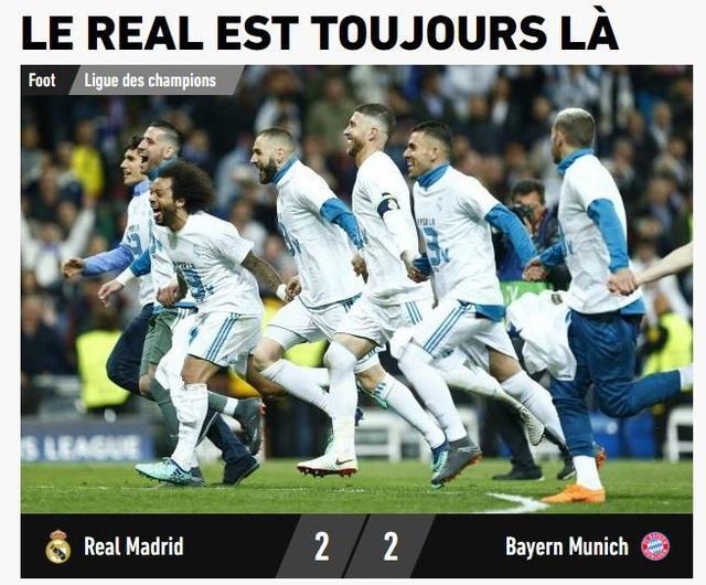 Tờ LEquipe (Pháp) có bài viết: Tại sao luôn là Real Madrid?. Câu nói này mô phỏng dòng chữ nổi tiếng trên áo của Balotelli: Tại sao luôn là tôi?