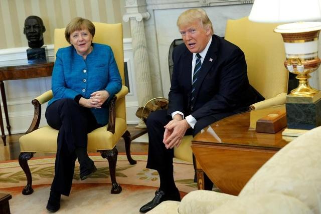 Thủ tướng Angela Merkel và Tổng thống Mỹ Donald Trump (Ảnh: Reuters)