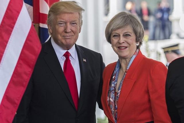 Tổng thống Mỹ Donald Trump và Thủ tướng Anh Theresa May (Ảnh: Getty)