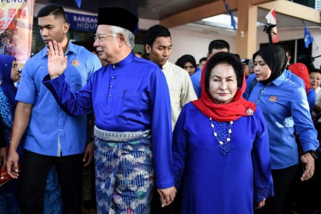 Đến nay vợ chồng ông Najib vẫn bác bỏ cáo buộc liên quan đến bê bối tham nhũng 4,5 tỷ USD. (Ảnh: AFP)