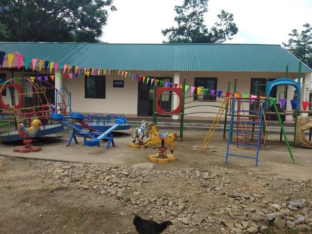 2 phòng học và 1 phòng hội đồng khang trang sạch đẹp tại Trường mầm non Nà Kiềng chính thức đưa vào sử dụng