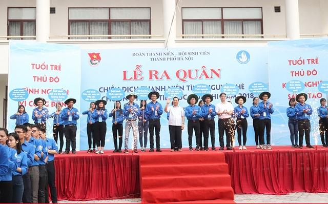 Lễ ra quân Chiến dịch thanh niên tình nguyện Hè và Chương trình Tiếp sức mùa thi năm 2018 của thành phố Hà Nội