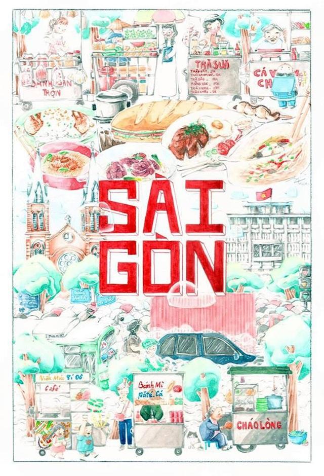 """Lê Huỳnh Mỵ với tác phẩm """"Sài Gòn"""""""