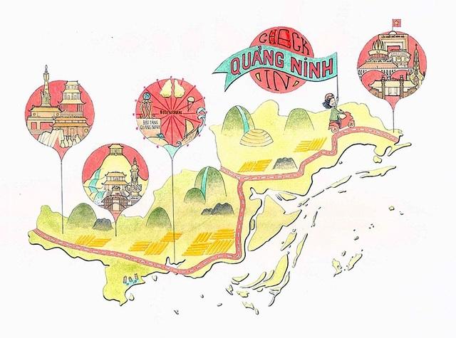 """Tác phẩm đoạt giải Nhất của Quỳnh Nhi: """"Check in Quảng Ninh"""""""