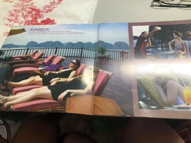 Lynne chia sẻ hình ảnh quảng cáo của du thuyền trước khi đặt tour