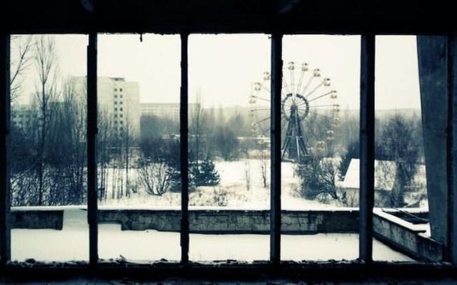 Thành phố Pripyat, từng là nơi sinh sống của 50.000 người ở Ukraine, được sơ tán sau thảm họa hạt nhân Chernobyl.