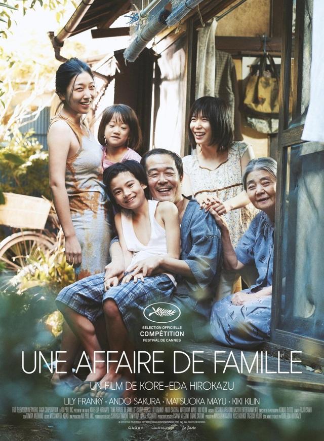 """Bộ phim Shoplifters"""" của đạo diễn Nhật Bản - Hirokazu Kore-eda đã giành được giải Cành cọ vàng tại LHP Cannes 2018."""