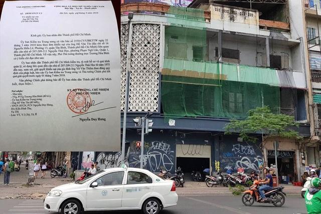 Phó Thủ tướng Trương Hoà Bình đã chỉ đạo UBND TP.HCM kiểm tra, rà soát hồ sơ và quá trình quản lý, sử dụng liên quan đến căn nhà số 207 - 209-2011 Nguyễn Thái Học từ năm 1975 đến nay.