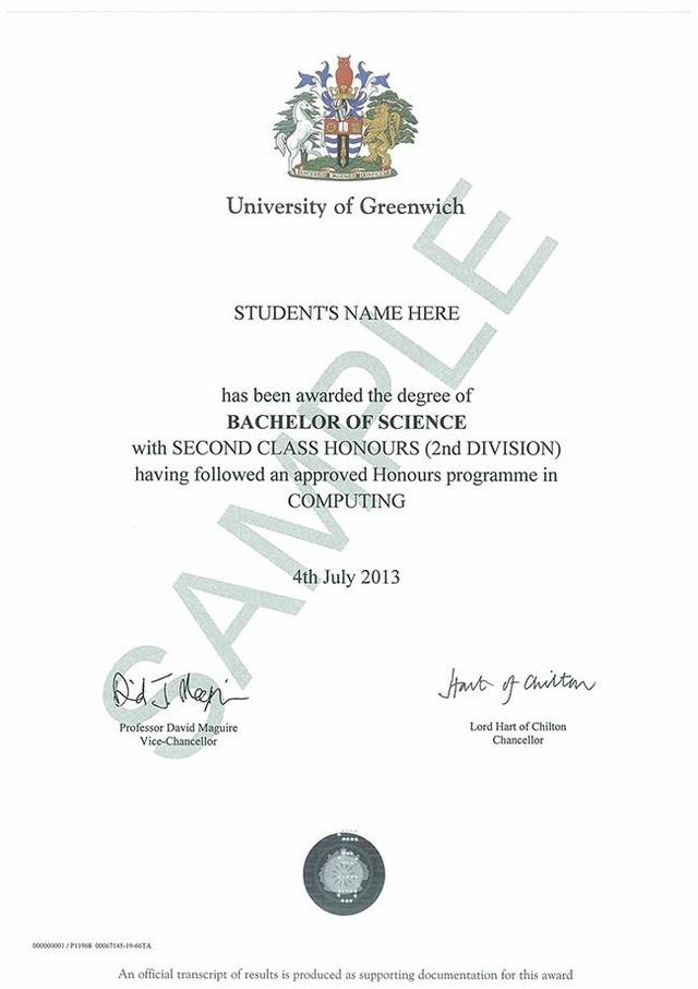 Mẫu bằng tốt nghiệp chương trình cử nhân tại Đại học Greenwich (Việt Nam), sinh viên hoàn toàn có thể tự tin cạnh tranh ở bất cứ môi trường nào hoặc theo học các cấp bậc học cao hơn cũng như có cơ hội làm việc ở nhiều nước khác.