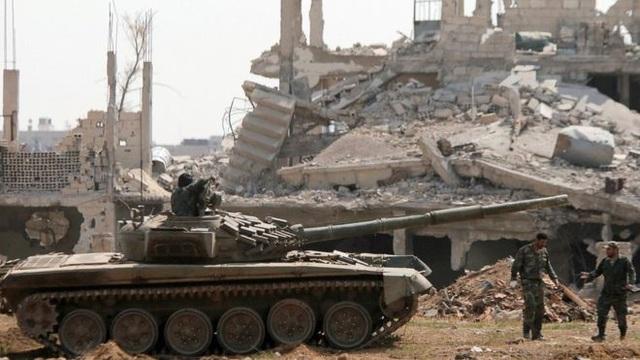 Syria giành kiểm soát toàn bộ Damascus sau 7 năm. (Ảnh: Reuters)