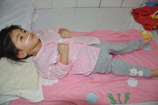 Từ 1 cô bé nhanh nhẹn, hoạt bát, Diệp Chi bị sốt co giật với hậu quả em bị viêm não.