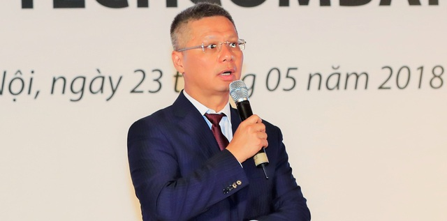 Ông Nguyễn Lê Quốc Anh – Tổng Giám đốc Techcombank chia sẻ về những thông tin liên quan tới việc cổ phiếu ngân hàng lên sàn HoSE.