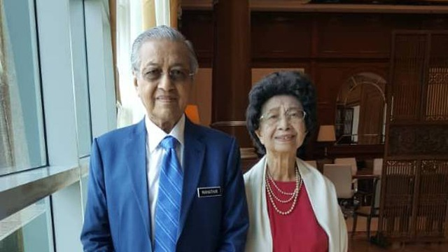 Thủ tướng Malaysia Mahathir Mohamad và phu nhân (Ảnh: Facebook)