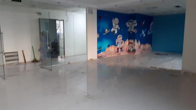 Không còn dấu vết của 2 phòng học tại TT MST ở Trần Phú, Hà Đông.