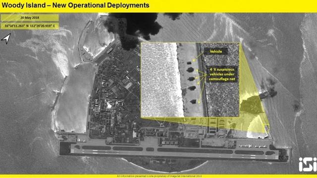 Trung Quốc bị nghi triển khai thêm hệ thống tên lửa tới Hoàng Sa của Việt Nam. (Ảnh: ISI)