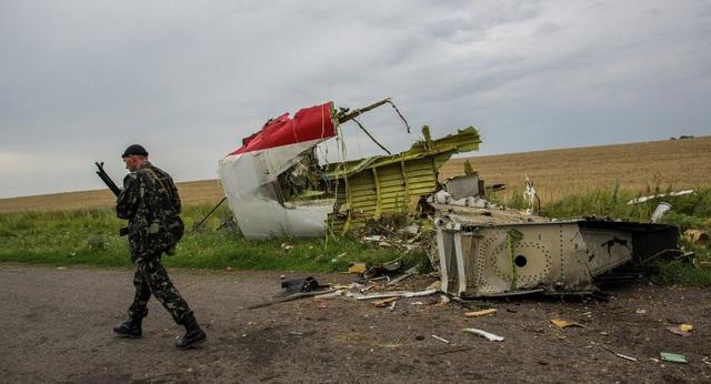 Hiện trường vụ rơi máy bay MH17 tại Ukraine (Ảnh: Sputnik)