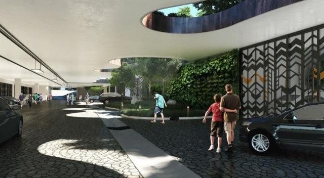 Phối cảnh tầng hầm khu City Villas, với toàn bộ hệ thống giao thông đường bộ được ngầm hóa, tiện nghi và an ninh đến từng căn biệt thự.