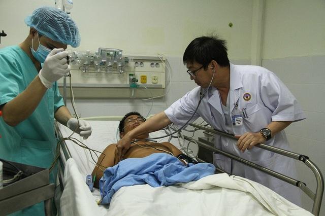 Nhờ được hỗ trợ kịp thời, bệnh nhân đã qua được cơn nguy kịch