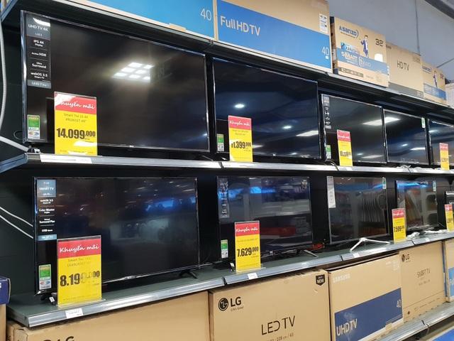 Các mẫu TV màn hình lớn hút khách
