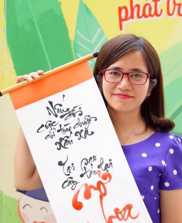 Cô giáo Nguyễn Minh Ngọc - người viết bức thư nhắn nhủ đến học trò gây xúc động. (Ảnh: Hoài Nam)