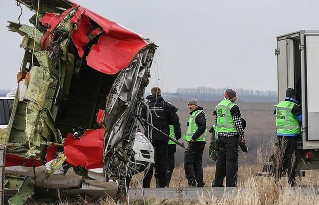 Hiện trường vụ rơi máy bay MH17 (Ảnh: TASS)