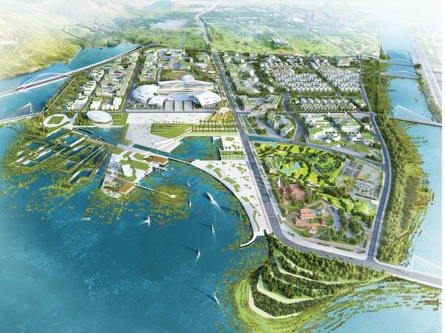 Phối cảnh khu trung tâm hành chính mới của Tỉnh Khánh Hòa