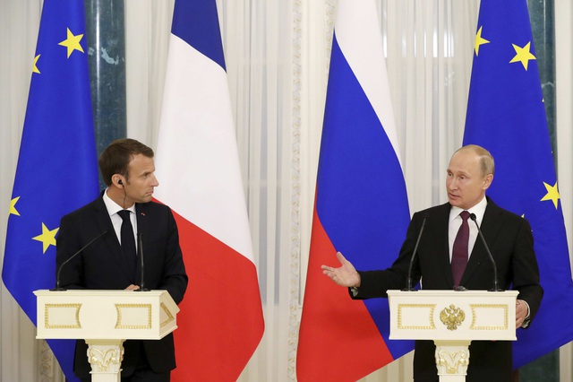 Tổng thống Putin cho biết kim ngạch thương mại giữa Nga và Pháp đã tăng 25% trong năm 2017 và đang có xu hướng tiếp tục tăng trong những tháng đầu năm 2018.