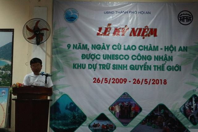 Ông Nguyễn Thế Hùng phát động Cù Lao Chàm nói không với ống hút nhựa