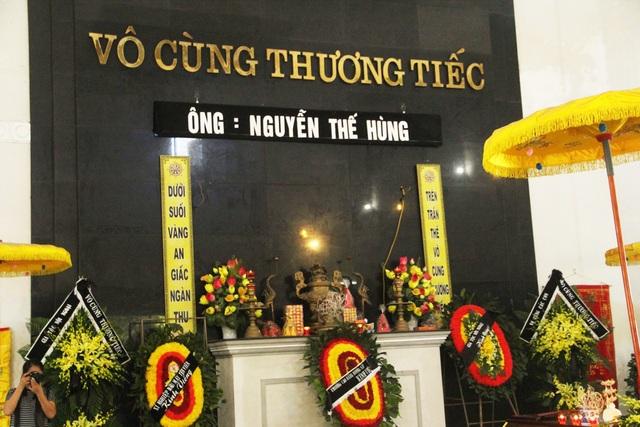 Sáng nay lễ viếng lái tàu Nguyễn Thế Hùng được tổ chức tại Nhà tang lễ Đức Giang, bắt đầu từ 7h30