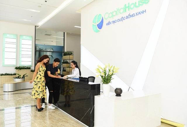 Căn hộ Officetel có khu vực tiếp tân chuyên nghiệp