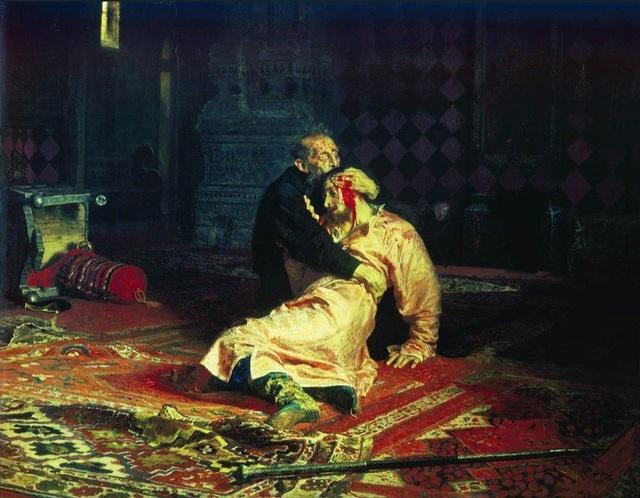 Bức tranh vừa bị tấn công của họa sĩ người Nga Ilya Repin
