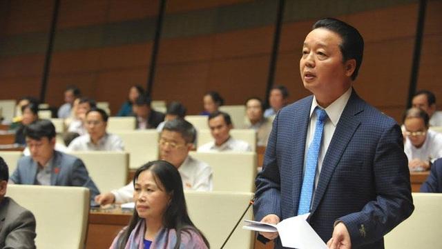 Bộ trưởng Tài nguyên và Môi trường Trần Hồng Hà.