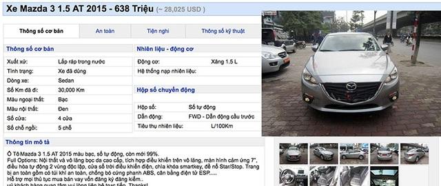 """Lạ thường những chiếc Mazda3 """"cá vàng"""" giá đắt ngang xe mới - 1"""