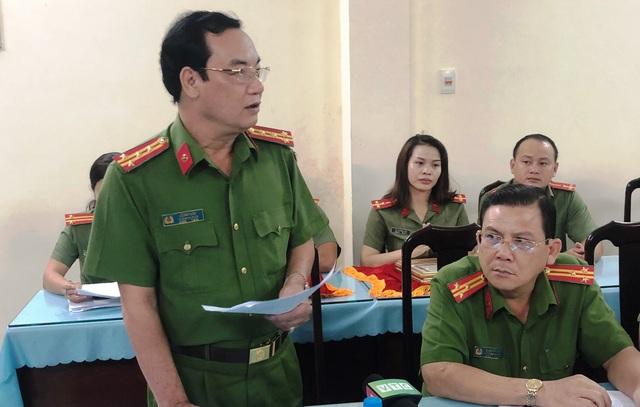 Đại tá Lê Anh Tuấn, Trưởng Công an Thủ Đức thông tin chi tiết về vụ cướp dùng dao đâm 3 người truy đuổi bị thương.