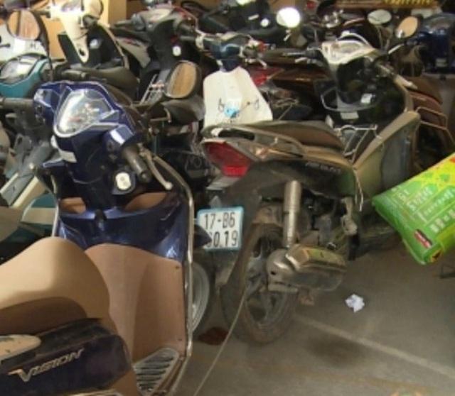 Số xe máy Khiên và Thu trộm cắp trên địa bàn tỉnh Thái Bình (ảnh: Công an Thái Bình)