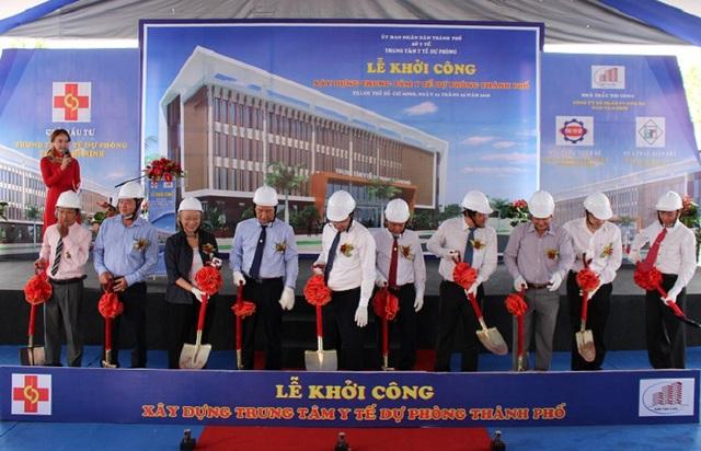 Ngày 3/5, Trung tâm Y tế Dự phòng Thành phố chính thức động thổ xây dựng mới