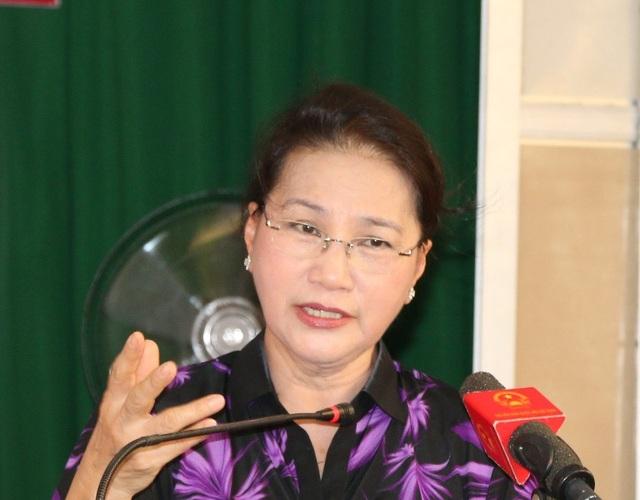 Chủ tịch Quốc hội Nguyễn Thị Kim Ngân trả lời ý kiến của cử tri