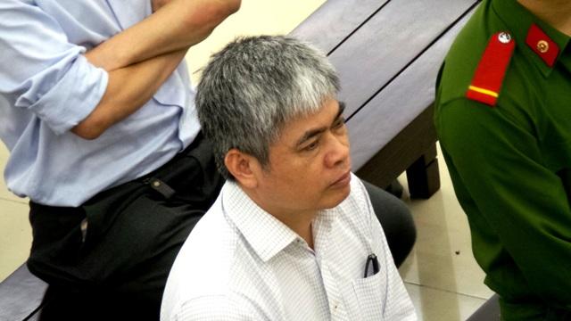 Bị cáo Nguyễn Xuân Sơn tại tòa phúc thẩm ngày 3/5.