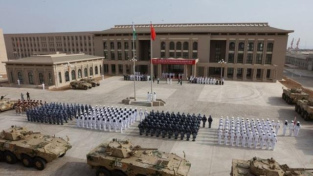 Căn cứ quân sự của Trung Quốc ở Djibouti. Ảnh: SCMP