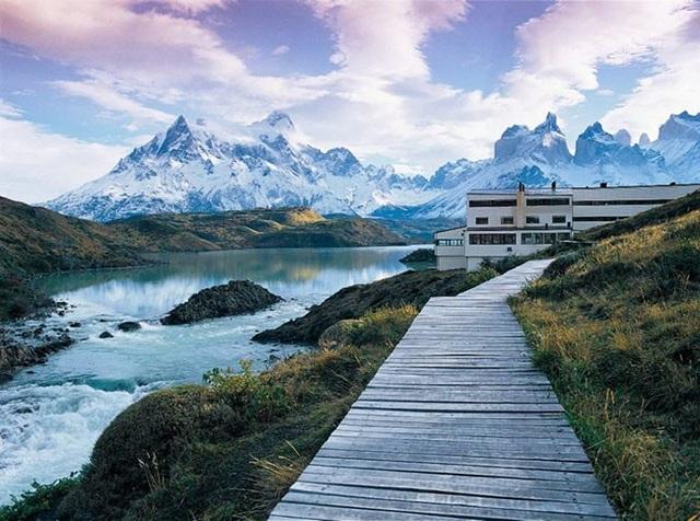 Du khách di chuyển đến địa điểm Patagonian hùng vĩ