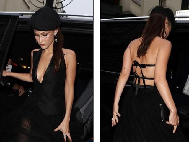 Siêu mẫu 21 tuổi diện chân váy xuyên thấu kết hợp với áo hở lưng gợi cảm