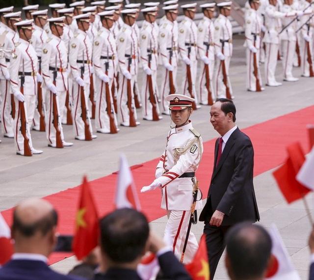 Chủ tịch nước Trần Đại Quang tại lễ đón chính thức